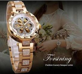 Forsining Gold-White Flower Diamonds