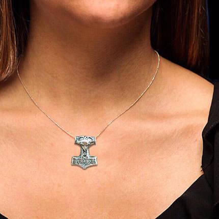Серебряная подвеска Молот Тора, 12 грамм, фото 2