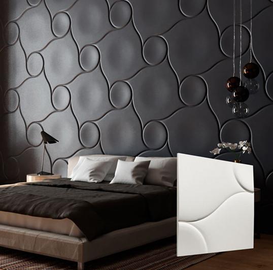 """Гипсовая 3d панель для стен """"Пуф"""" (декоративная стеновая 3д панель)"""