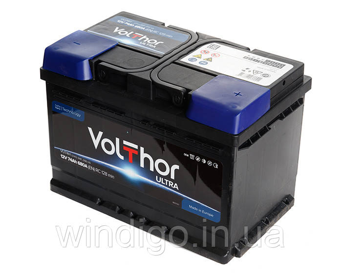 VolThor Ultra, 74 Ач, 680A