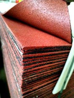 Резиновая плитка 1000-1000 мм.Толщина 8 мм. Красная.., фото 1