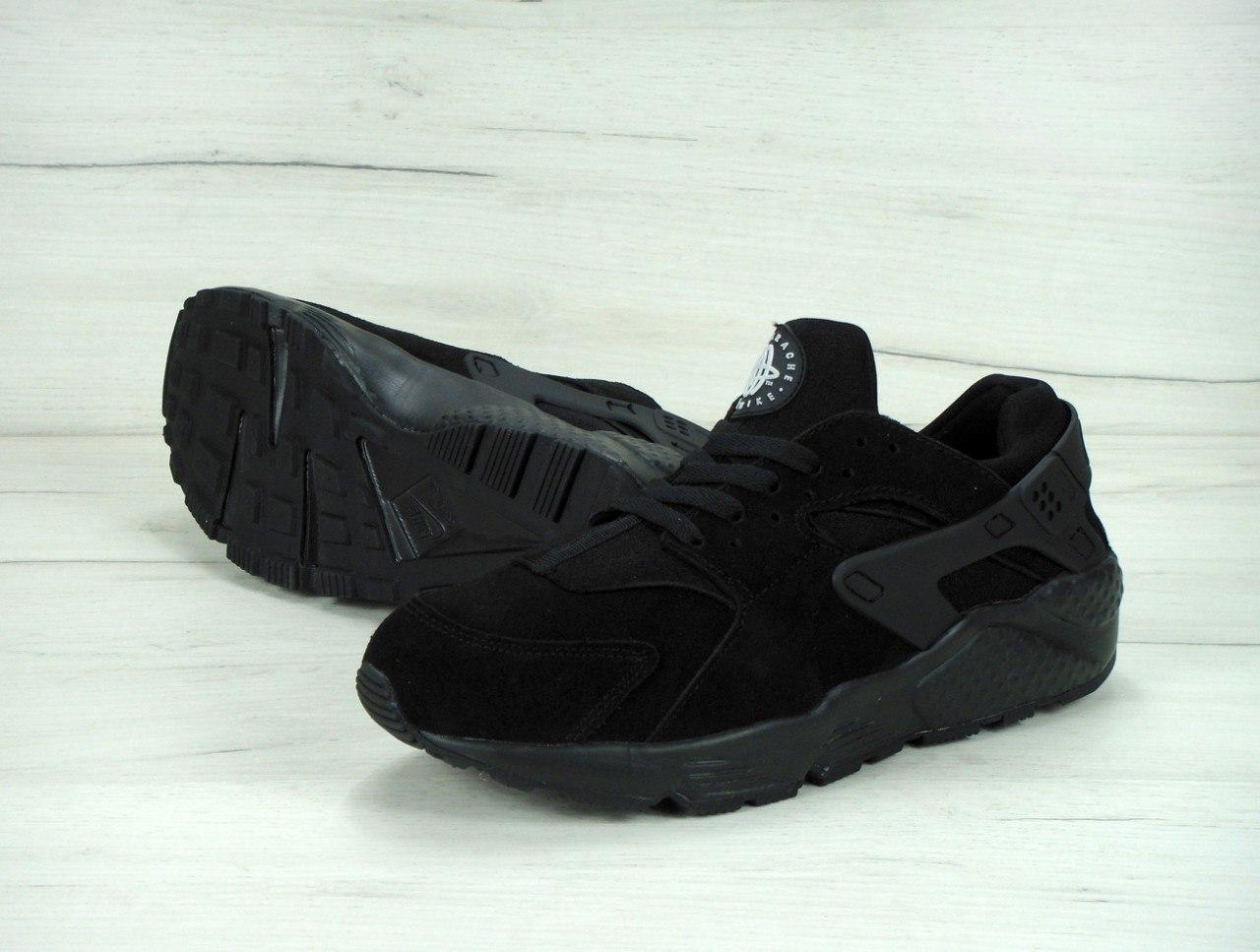 Кроссовки мужские Nike Air Huarache Winter 30565 черные зимние