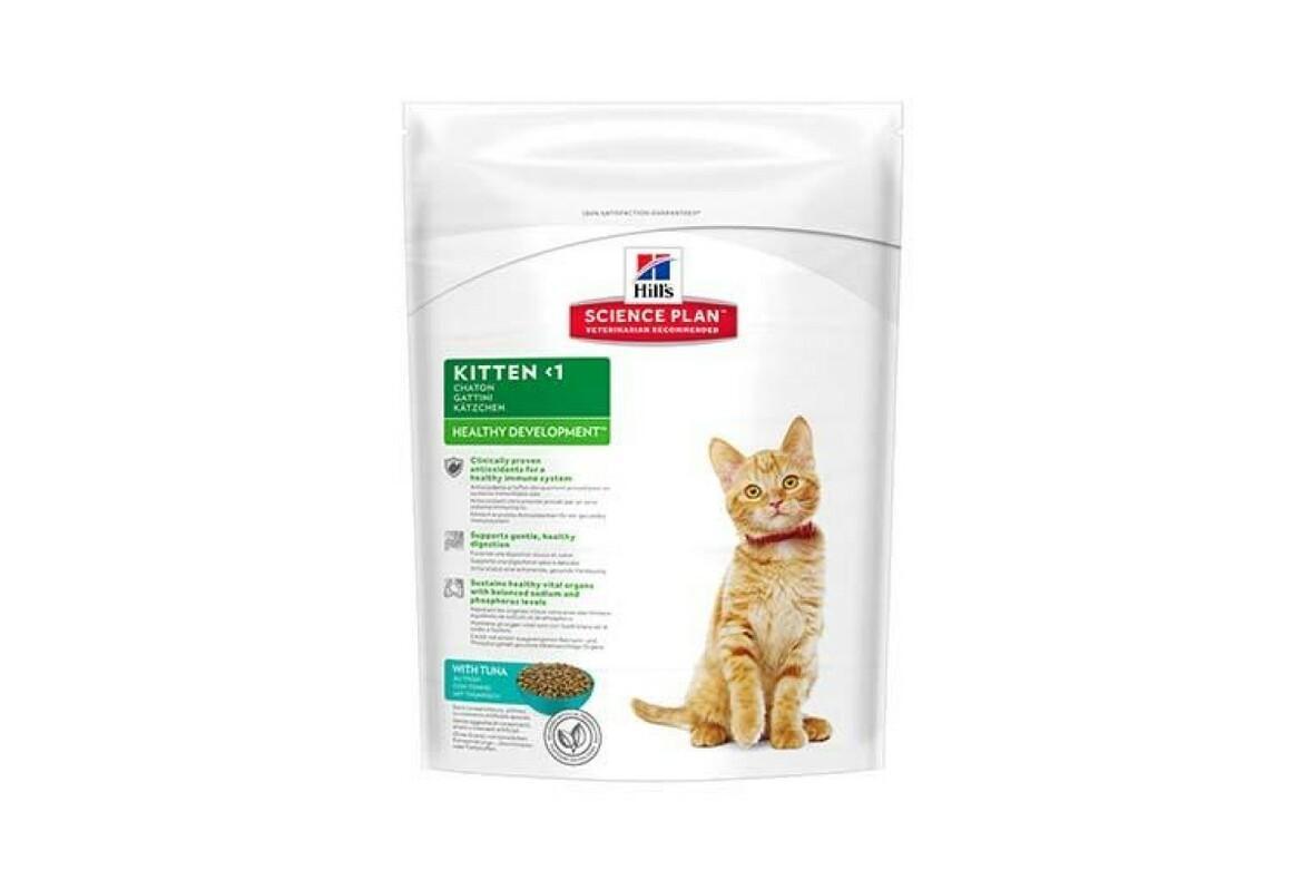 Сухой корм Hills Science Plan Feline Kitten Healthy Development для поддержания иммунитета и здоровья пищеварения котят, с тунцом, 400 г