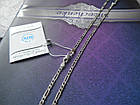 Серебряная цепочка плетение фигаро, фото 2