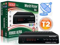 Т2/спутниковый тюнер Foros Ultra с LAN портом