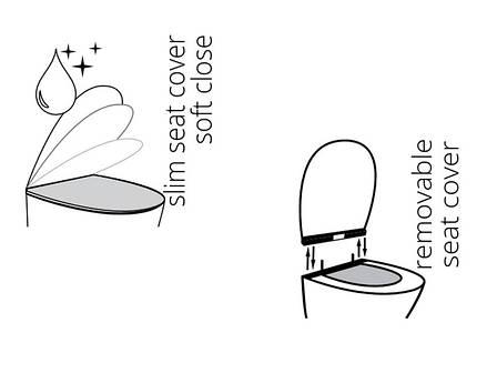 Alfa Сиденье для унитаза Soft Close Slim 53-02-06-007 IDEVIT, фото 2