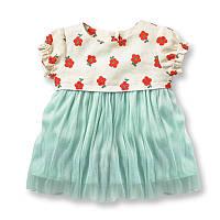 Красивое детское летнее платье для девочки Цветы Jumping Beans