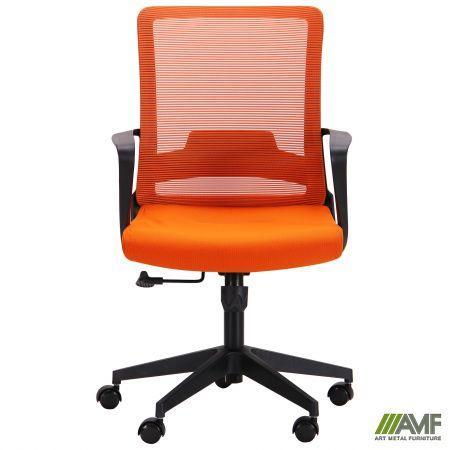 Офисное кресло AMF Argon-LB  сетка-ткань оранжевого цвета