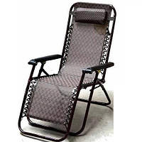 Кресло шезлонг 180см раскладное пляжное садовое