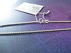 Срібна жіночий ланцюжок плетіння колосок, фото 2