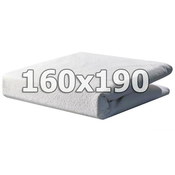 Непромокаемый махровый наматрасник с бортами - 160х190