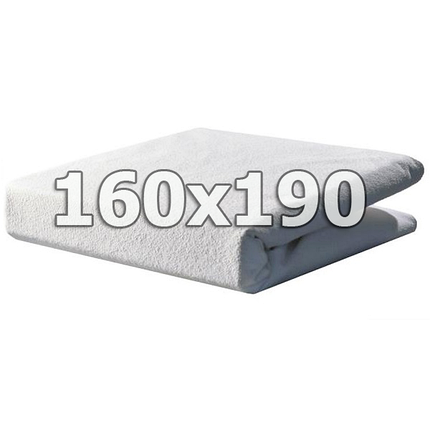Непромокаемый махровый наматрасник с бортами - 160х190, фото 2