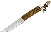 Нож для метания металл + плетеный шнур на рукояти лезвие сталь заточенная + чехол для тренировок