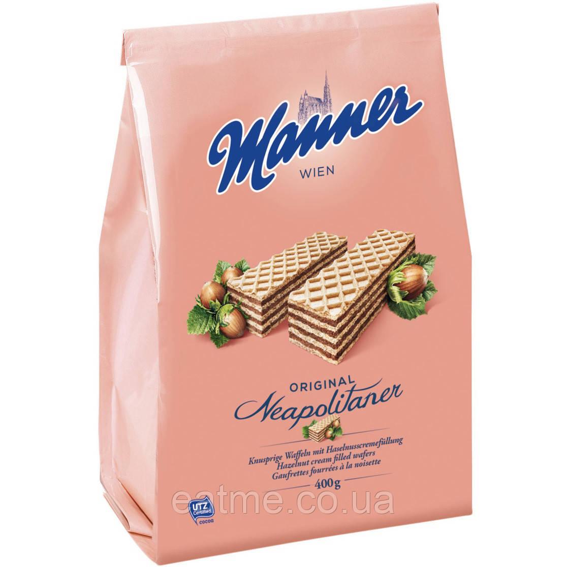 Manner Невероятно вкусные Венские вафли с шоколадно-ореховой начинкой