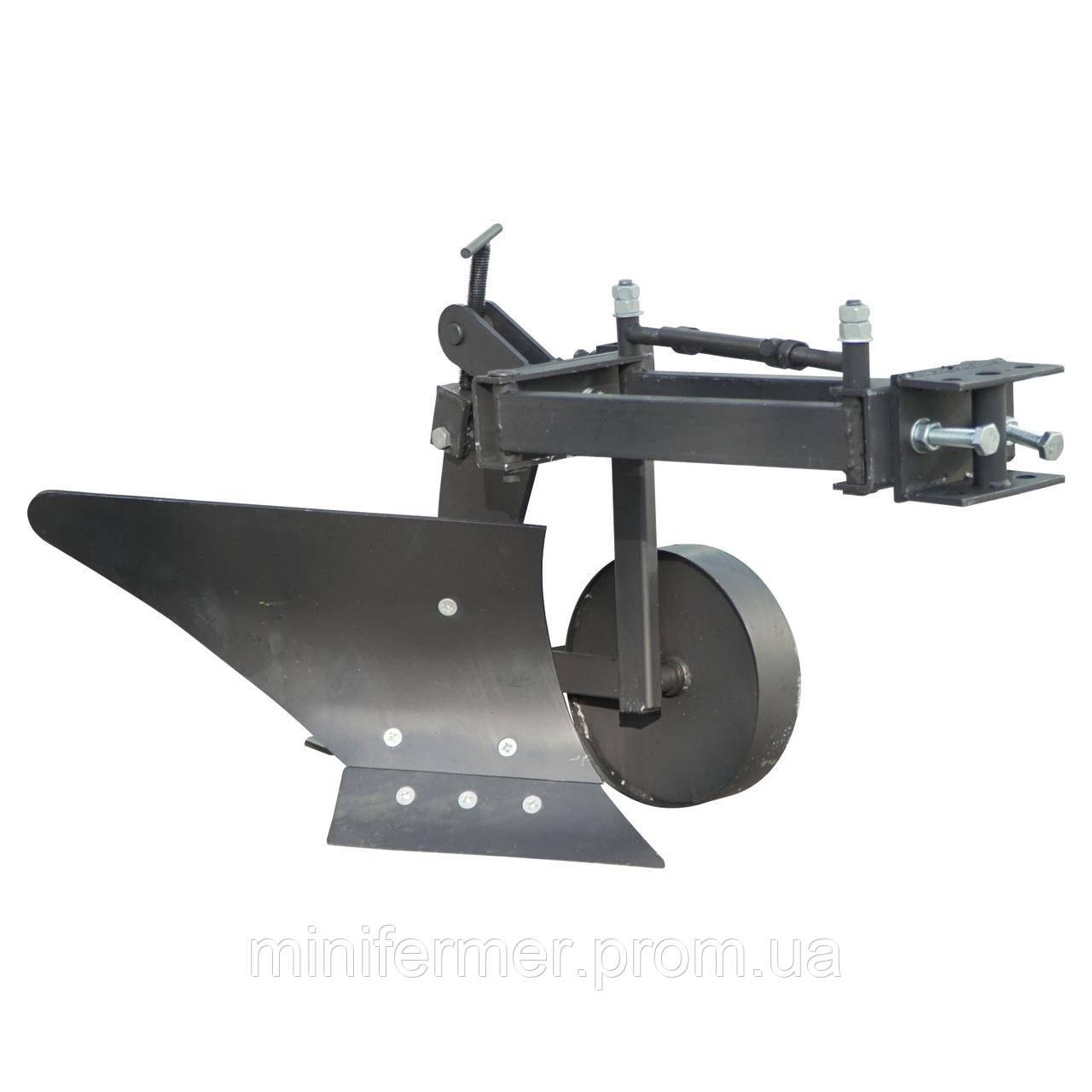 Плуг для мотоблока с опорным колесом Zirka-61 (короткий) ПЛ9