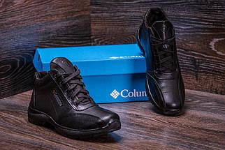 Мужские зимние кожаные ботинки черные (40-45) ПК-zk Antishok, фото 2
