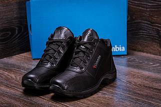 Мужские зимние кожаные ботинки черные (40-45) ПК-zk Antishok, фото 3