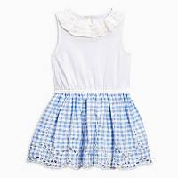 Красивое детское летнее платье для девочки Мелкая клеточка Jumping Beans
