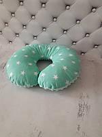 """Дорожна подушка """"Зіркова"""" +маска для сну в подарунок"""