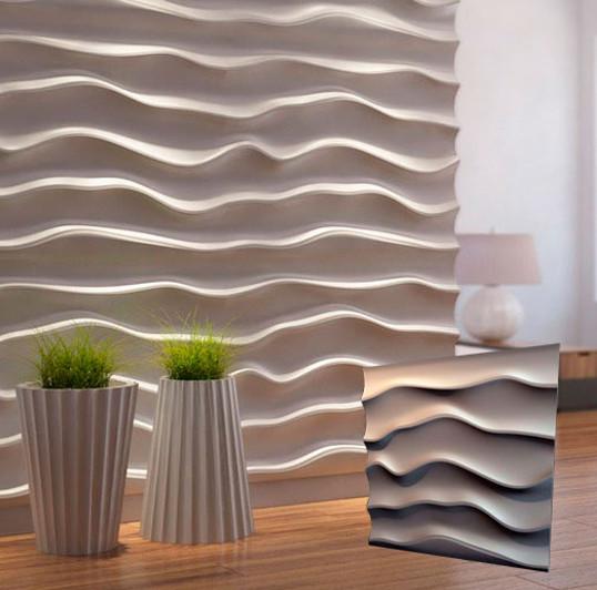"""Гипсовая 3d панель для стен """"Эфир"""" (декоративная стеновая 3д панель)"""