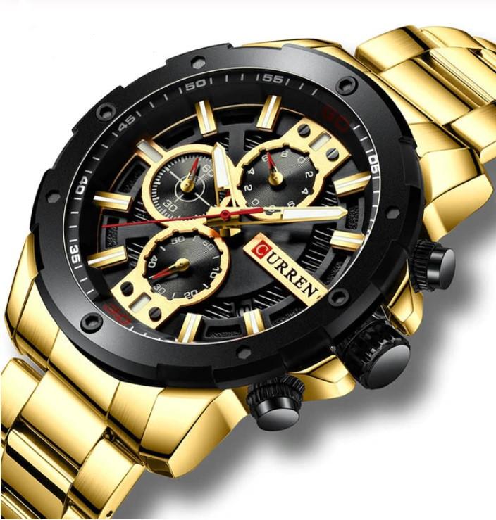 Мужские часы Curren 8336 (gold-black)