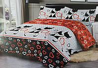 Постельное бельё «Черные коты» полуторный размер
