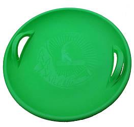 """Санки-ледянка / Тарілка / Пластикові санки / Круглі санки """"Steep"""", зелені"""