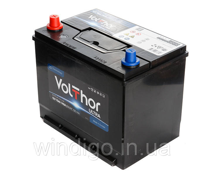 VolThor Ultra, 75 Ач, 740A