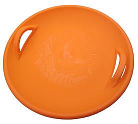 """Санки-ледянка / Тарілка / Пластикові санки / Круглі санки """"Steep"""", помаранчеві"""