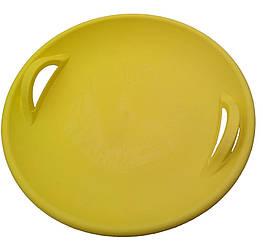 """Санки-ледянка / Тарелка / Пластиковые санки  / Круглые санки """"Steep"""", жёлтые"""