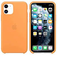 Силиконовый чехол для Apple iPhone 11 Silicone case (Абрикос)