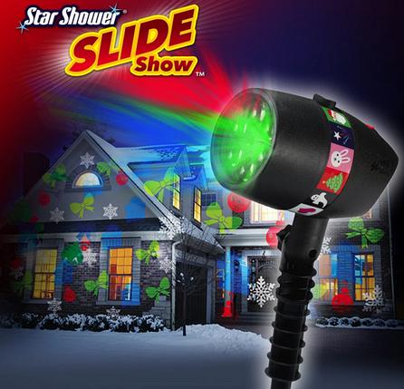 ЛАЗЕРНАЯ УСТАНОВКА ПРОЕКТОР Star Shower Slide Show / ДЕКОРАТИВНОЕ ОСВЕЩЕНИЕ, фото 2