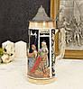 Немецкий пивной бокал, керамическая кружка с оловянной крышкой, керамика, олово, Германия