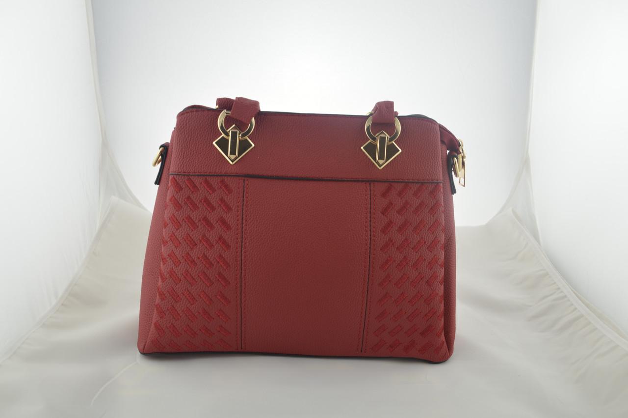 Женская красная сумка эко кожа