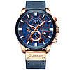 Мужские часы Curren (blue/rose gold) - гарантия 12 месяцев, фото 2