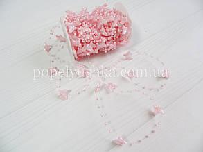 Намистини на нитці Метелик 20*15 мм Рожевий