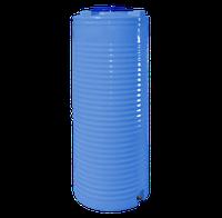 Емкость 500 л узкая, вертикальная двухслойная голубая