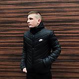 Куртка мужская зимняя  черная Nike Найк (реплика), фото 2