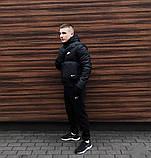 Куртка мужская зимняя  черная Nike Найк (реплика), фото 3