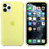Силиконовый чехол для Apple iPhone 11 Pro Max Silicone case (Лимонад)