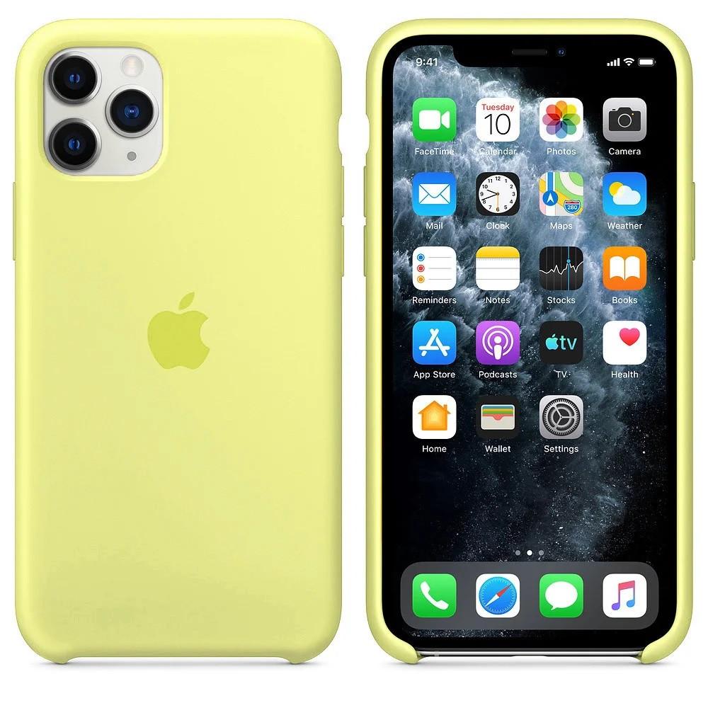 Силиконовый чехол для Apple iPhone 11 Pro Silicone case (Лимонад)