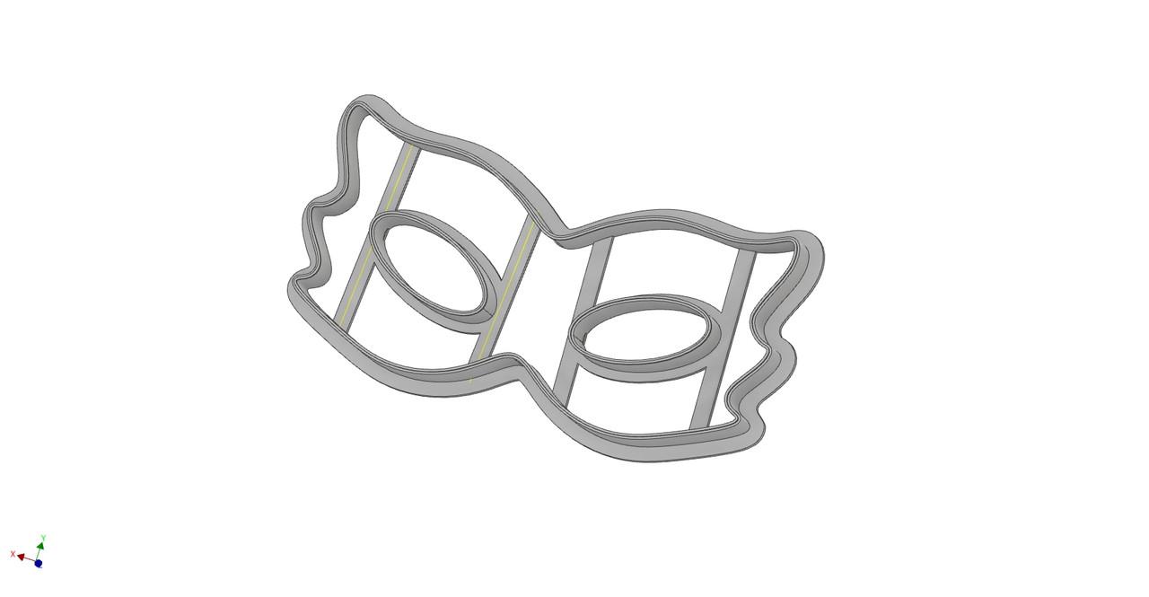 Формочка-вырубка для пряника Маска