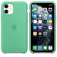 Силиконовый чехол для Apple iPhone 11 Pro Silicone case (Светло-бирюзовый)