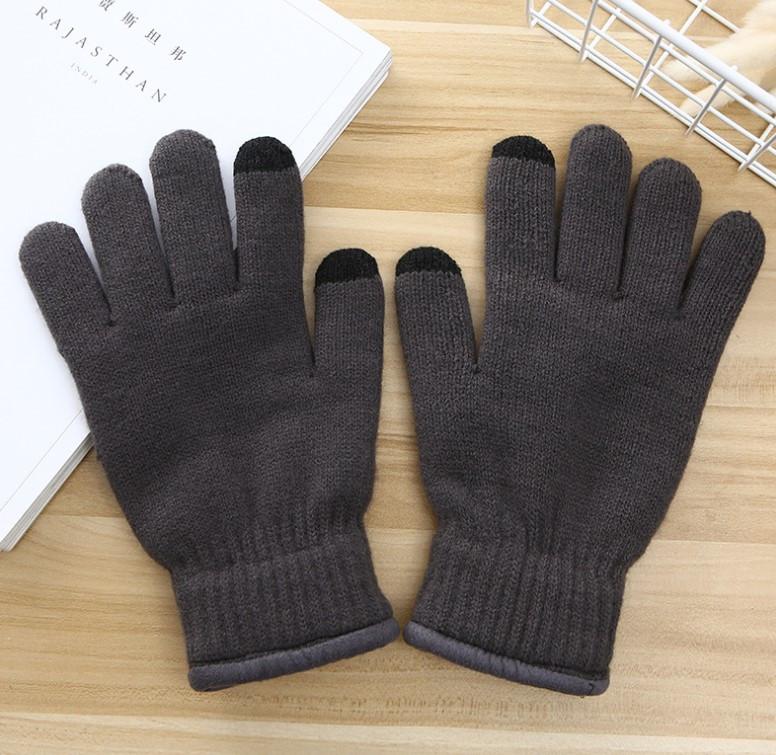 Рукавички утеплені для сенсорних екранів iFrost gray