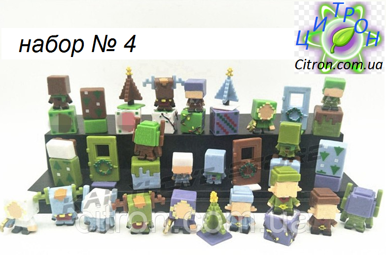 Набор 36 шт. Майнкрафт Minecraft Фигурки героев. Набор №4. Рождественский