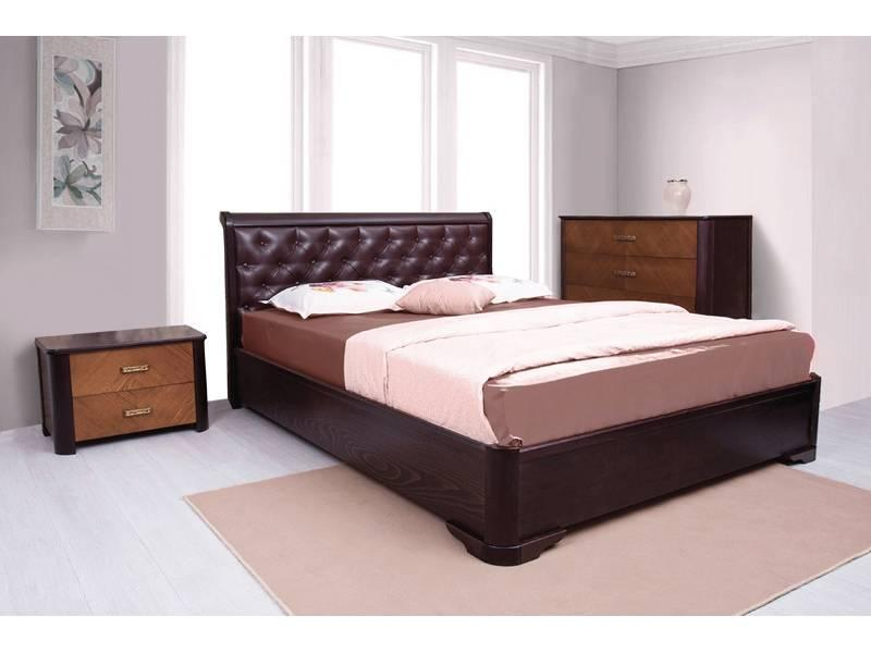 Ліжко Мілена з м'якою спинкою (Ассоль)