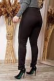 Женские черный лосины легинсы средняя посадка микро-дайвинг батал размеры:46-48,50-52,54-56,58-60,62-64, фото 2