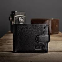 Кожаный мужской кошелек на кнопке Kafa (22-203)