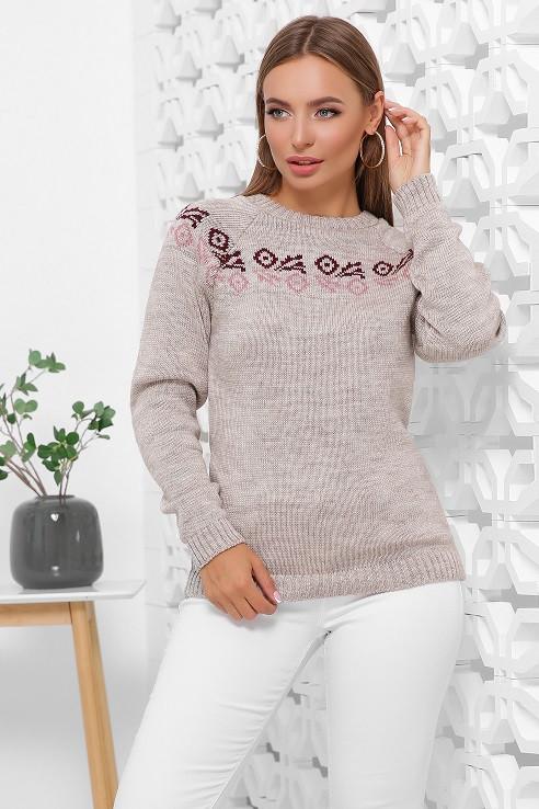 Женский свитер Ронда капучино (44-48)