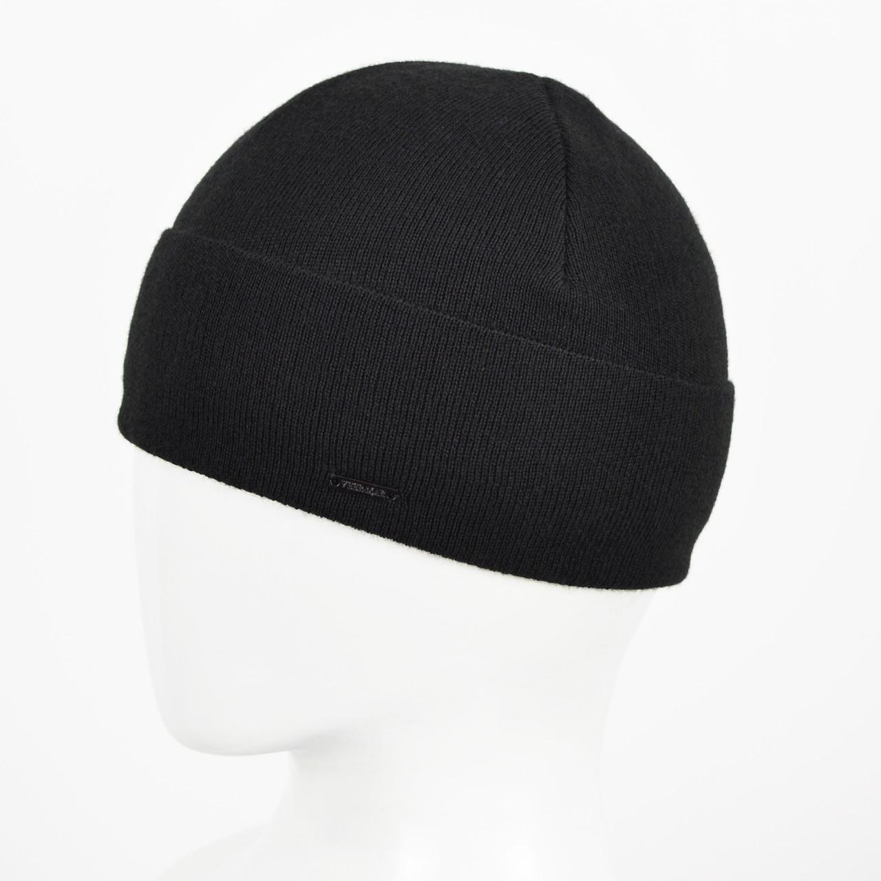 Мужская Шерстяная шапка Veer-Mar. № 468 Черный